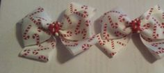 Candy Cane Piggy tail bows, Candy cane pigtail bows, piggy tail bows, Candy Cane hair bow set by BakersgirlBowtique on Etsy