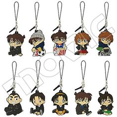 Detective Conan pure black of nightmare Rubber Strap Collection. Parallel import goods. [All 10 species]. Size: body about 6.5 ~ 4.5cm. Specifications: ATBC-PVC, brass, iron.