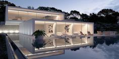 House in Ibiza Spain by Gallardo Llopis Arquitectos | render by 3VE