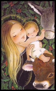 Bonita Imagen Christmas Nativity, Christmas Scenes, Christmas Baby, Mother Art, Christian Images, Mama Mary, Mary And Jesus, Madonna And Child, Christmas Illustration