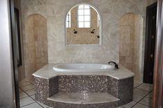 master bathroom open shower behind tub - Buscar con Google