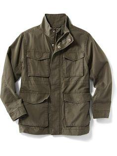 Canvas Military Jacket Product Image
