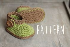 Baby Crochet Pattern Green Nature Boot green