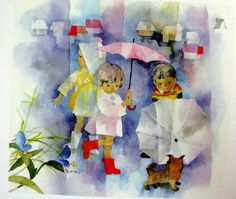 """Chihiro Iwasaki    """"A Japanese friend told me that Chihiro drew the children's features until they were only 60% complete, so that the viewer could fill in the remaining portion in their mind, and the faces would appear to resemble children they knew."""""""
