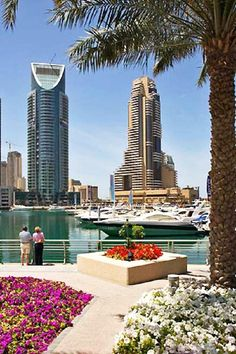Dubai marina with Grosvenor House