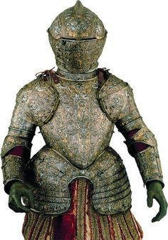 Child Armour of Philip III, Engraved, embossed and gilt steel, gold and silver damascened. Milan c. 1585. Madrid, Patrimonio Nacional, Real Armería
