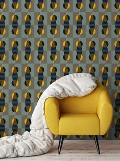 Jupiter 10 merges eye-catching color palettes with a modernist feel by putting a fresh spin on mid-century modern ideas in their new wallcoverings.