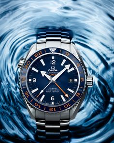 OMEGA Watches: Seamaster Planet Ocean 600 M Omega Co-axial GMT 43.5 mm - Steel on steel