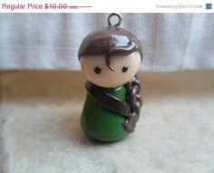 Hunger Games' Katniss Everdeen Pawn Clay Charm by AmandaVenuti, $10.00