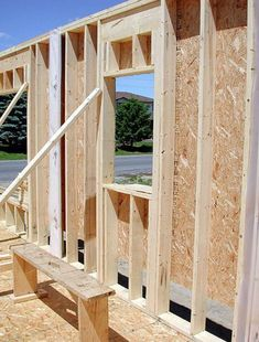 Building a shed is a popular solution for creating storage space outside the house. Whether you are thinking about having a go and building a shed yourself Building A New Home, Building A Shed, Building Plans, Framing Construction, Wood Construction, Tiny House Cabin, Cabin Homes, Timber House, Wooden House