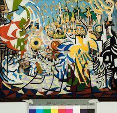 Jules Schmalzigaug (Belgian, 1882 - Gold, banners, San Marco square umbrellas, 1913 - 1914 Oil on canvas Futurism Art, Figurative Art, 18th Century, Oil On Canvas, Scene, The Incredibles, Umbrellas, Banners, Artwork