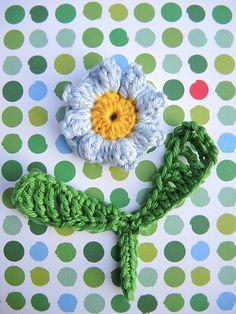 DIY: haakpatroon: bloemetje 'vergeet-me-nietje'/crochet pattern: flower 'forget-me-not'