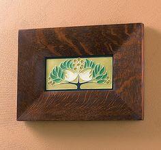 Lovebirds Arts and Crafts Framed Tile - $159.00