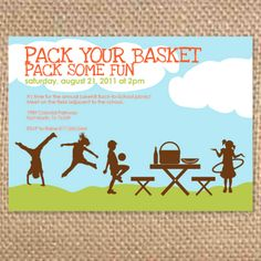 Birthday Picnic Invitations  Picnic Invitations Picnics And