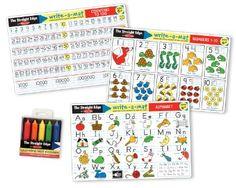 Amazon.com: Melissa & Doug Alphabet / Numbers Placemat Bundle: Toys & Games set of 3 $10.99
