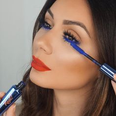 "Benefit Cosmetics US on Instagram: ""@makeupbylilit seriously just blue our minds with this look  We're loving her in they're real! beyond blue liner & mascara!"""