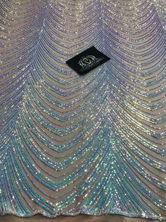 Sequins in Lines - Aqua - Iridescent 4 Way Stretch Two Tone Color Design Sequins Fabric Bead Embroidery Patterns, Hand Work Embroidery, Hand Embroidery Designs, Beaded Embroidery, Embroidery Fabric, Rhinestone Fabric, Sequin Fabric, Mesh Fabric, Bridal Lace Fabric
