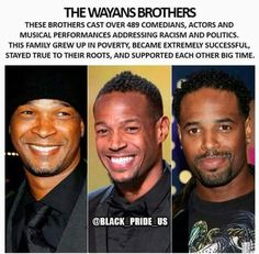 The Wayans Brothers Black History Facts, Black History Month, Culture Art, Cultura General, My Black Is Beautiful, Beautiful Family, Black Pride, Before Us, African American History