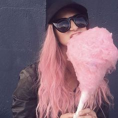 #sweet like sugar! @chrisweberhair has done it again. The #brilliant #stylist used our #cottoncandypink to create this #gorgeous #confection on @lo_cou and it looks #good enough to eat! Remember, to get #pastels this #beautiful you have to lighten your #hair to a level 9 or 10 #blonde !