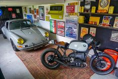 We at Elferspot Magazine are constantly looking for exciting vehicles and their history behind them. Porsche 911 Targa, Porsche Cars, Garage Furniture, Cool Garages, Car Barn, Man Cave Gifts, Garage Remodel, Man Cave Home Bar, Man Cave Garage