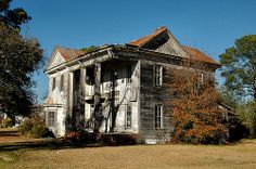 Sycamore GA Turner County Abandoned Dilapidated Folk Victorian House Architecture Picture Image Photo Brian Brown Vanishing South Georgia USA 2012