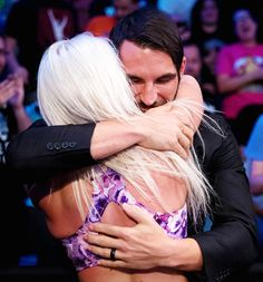 WWE Superstar Johnny Gargano hugging his wife WWE NXT star Candice LeRae (Candice Dawson Gargano) after her match at the Mae Young Classic. Nxt Divas, Total Divas, Wrestling Divas, Women's Wrestling, True Love Stories, Love Story, Candice Lerae, Wwe Couples, Professional Wrestling