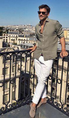 Summer Outfits Men, Summer Wear, Stylish Men, Men Casual, Italian Mens Fashion, Bon Look, Der Gentleman, Mens Clothing Styles, Fashion Outfits