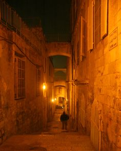 Narrow streets in The Old City Jerusalem