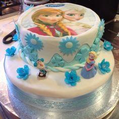 FROZEN cake (Elena's 4th birthday)