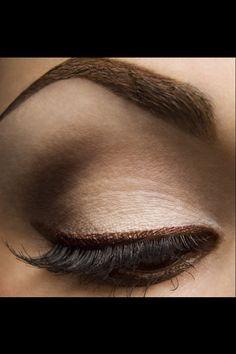 coffee and cream. Bronze eye make up. Summer make up. Beauty Make-up, Beauty Hacks, Hair Beauty, Beauty Tips, Beauty Trends, Beauty Products, Eye Makeup, Makeup Tips, Brown Makeup
