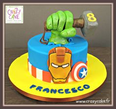Avengers - Cake by Crazy Cake