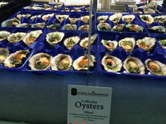Oysters at the Sydney Fresh Seafood market