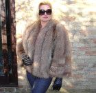 Fox Fur Jacket Indigo Crystal Very Soft and Beautiful
