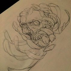 Skull/chrysanthemum sketch . . . #skull #chrysanthemum #flower #kiku #tattoo #tattoos #picoftheday #photooftheday #ink #inked #inkedup #irezumi #wip #wabori #japan #japanese #japanesetattoo #design #drawing #sketch #art #nihon