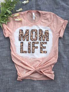 Bleach Shirt Diy, Diy Shirt, Bleach Wash, Mommy And Me Shirt, Mama Shirt, Vinyl Shirts, Custom Shirts, Cute Shirt Designs, Cute Tshirts