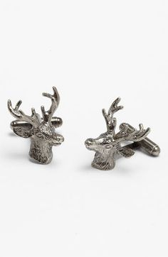 Ted Baker London 'Stag Head' Cuff Links available at #Nordstrom. A couple of the guys would totally love these!