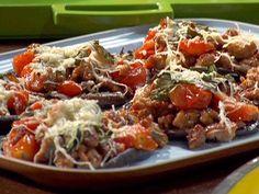 Rachel ray's paleo portobello mushroom sausage pizza