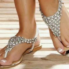 Golden Sparkling sandals