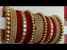 New Silk Thread Punjabi Chura Making At home Silk Thread Bangles Design, Silk Bangles, Bridal Bangles, Bridal Jewelry, Indian Bangles, Stylish Jewelry, Fashion Jewelry, Bangles Making, Jewellery Making