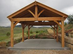 & Pavilion Kits America's Premier Timber Gazebo or Pavilion Kit; Western Timber Frame Above photo courtesy of Alderwood [.]America's Premier Timber Gazebo or Pavilion Kit; Western Timber Frame Above photo courtesy of Alderwood [. Backyard Pavilion, Outdoor Pavilion, Backyard Gazebo, Backyard Patio Designs, Backyard Landscaping, Gazebo Canopy, Grill Gazebo, Pergola Roof, Landscaping Ideas