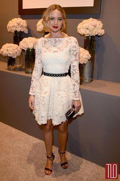 #JenniferLawrence in Oscar de la Renta at 2014 #Celebrity #Laughspark