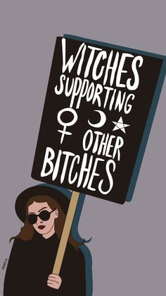 Witches - My best wallpaper list Witchy Wallpaper, Halloween Wallpaper, Goth Wallpaper, Cute Wallpapers, Wallpaper Backgrounds, Iphone Wallpaper, Feminist Quotes, Feminist Art, Witch Art