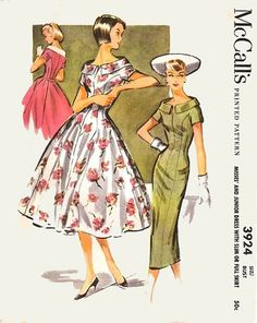 Vintage 50s Sewing pattern McCalls 3924 Princess by sandritocat, $32.00