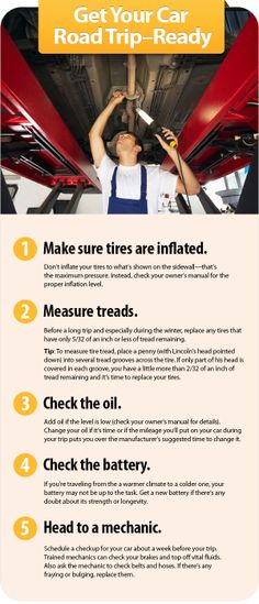 Prep your car for holiday travel. Don't get stranded somewhere between over the river and through the woods. Use this simple checklist from Rick McKinney, a Tire & Lube Express technician at Store 2852 in Moundsville, W.Va., to keep your car rolling all the way to grandma's house and beyond. Over The River, Moving Tips, Car Wash, My Ride, Getting Things Done, Holiday Travel, Day Trips, Good To Know, Used Cars