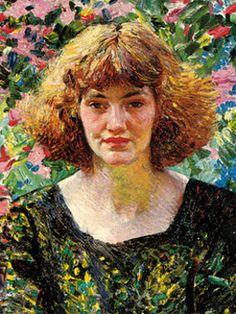Laura Knight. Rose and Gold, 1914. Cortesía de Tony y Rita Gallagher