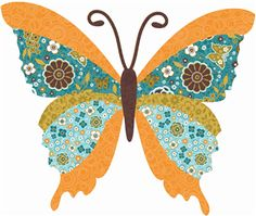 Silhouette Online Store: butterfly patchwork  $.99
