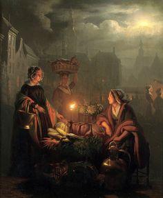 При свете свечей...Базарные хлопоты | Petrus van Schendel. Обсуждение на LiveInternet - Российский Сервис Онлайн-Дневников