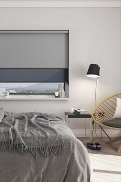 With day and night roller blinds you don't have to compromise. Block out the morning sun, or set the mood with softly diffused light. Custom Made Blinds Delivered To Your Door. Save OFF Brick & Mortar Store Prices. Double Roller Blinds, Grey Roller Blinds, Grey Blinds, Urban Interior Design, Interior Styling, Blinds For Windows, Curtains With Blinds, Day Night Blinds, Blockout Blinds