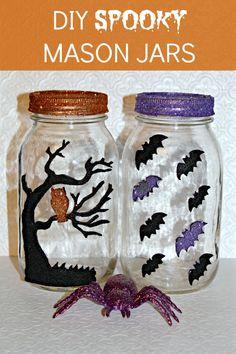 DIY Spooky Mason Jars #halloween