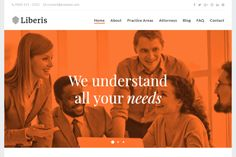 Liberis - attorneys, lawyers, law firms WordPress theme with a modern design. It is SEO friendly and flexible.